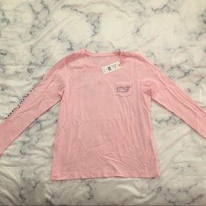Vineyard vines long sleeve pink shirt